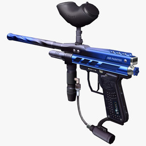 3d paintball gun model