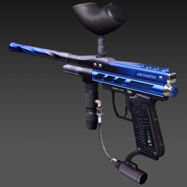 3d paintball gun model