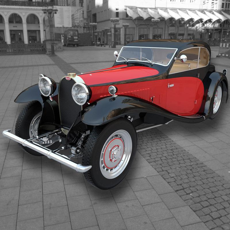 car bugatti 50 1933 3d model
