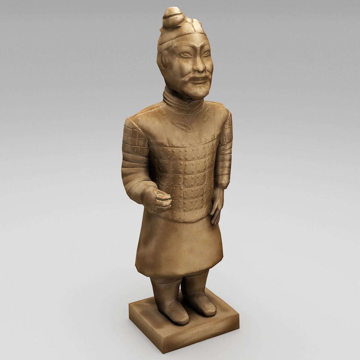 3d model china terracotta warrior 3