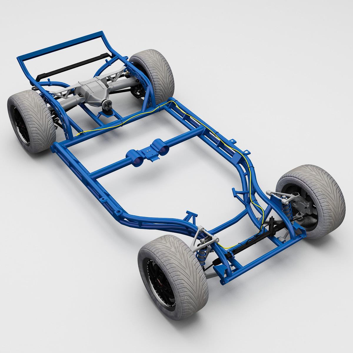 3d model corvette chassis