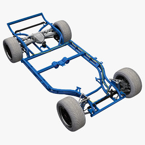 3d model corvette chassis