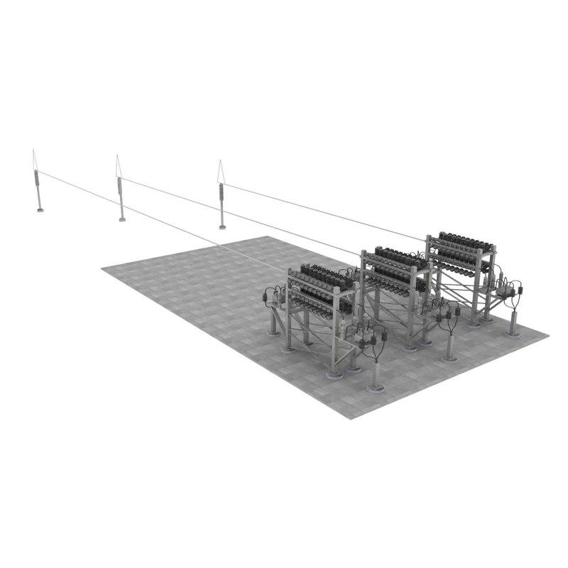3d substation capacitor bank