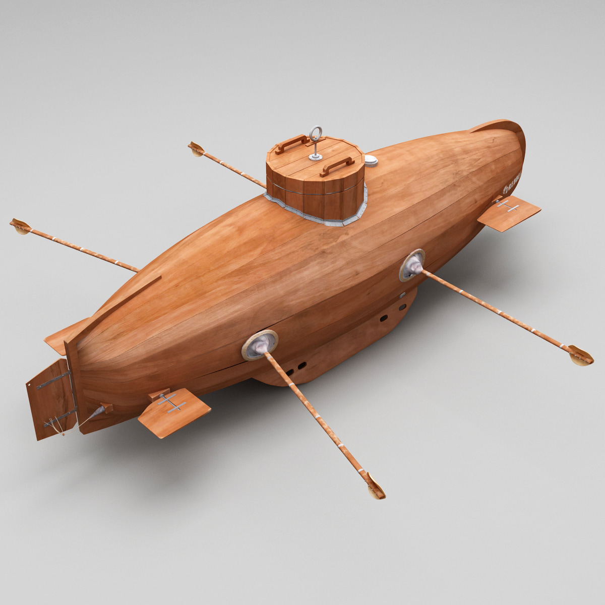 3d submarine drebbel model