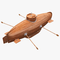 3d submarine drebbel model
