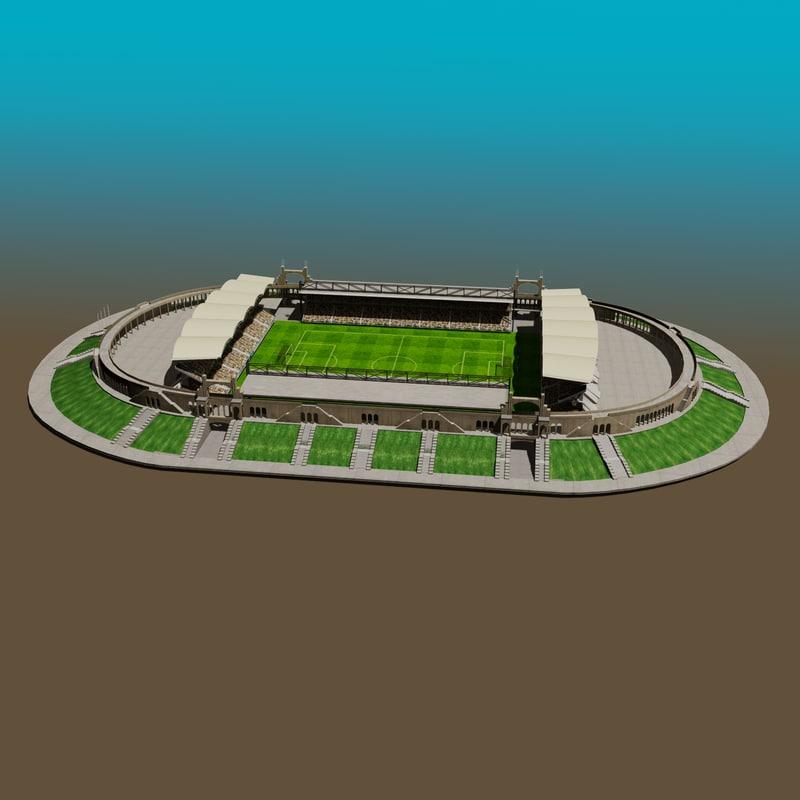 3d max gerland stadium football