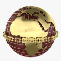globe earth planet 3d 3ds