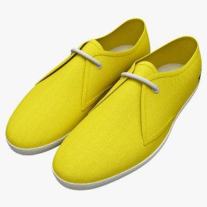mens shoes lacoste 3d model