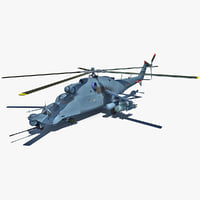 Mi 24 Super Hind 2 Rigged