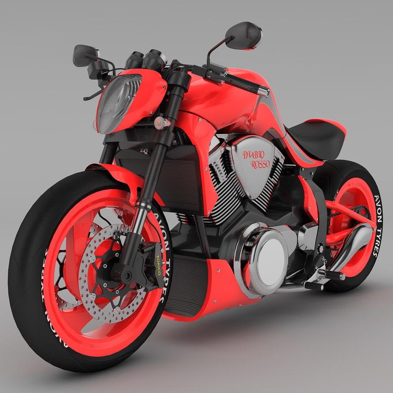3ds max motorcycle erz diablorosso