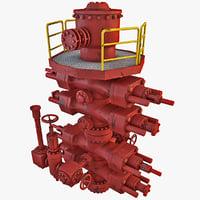 3d model rig bop stack