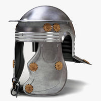 roman officer helmet 3d 3ds