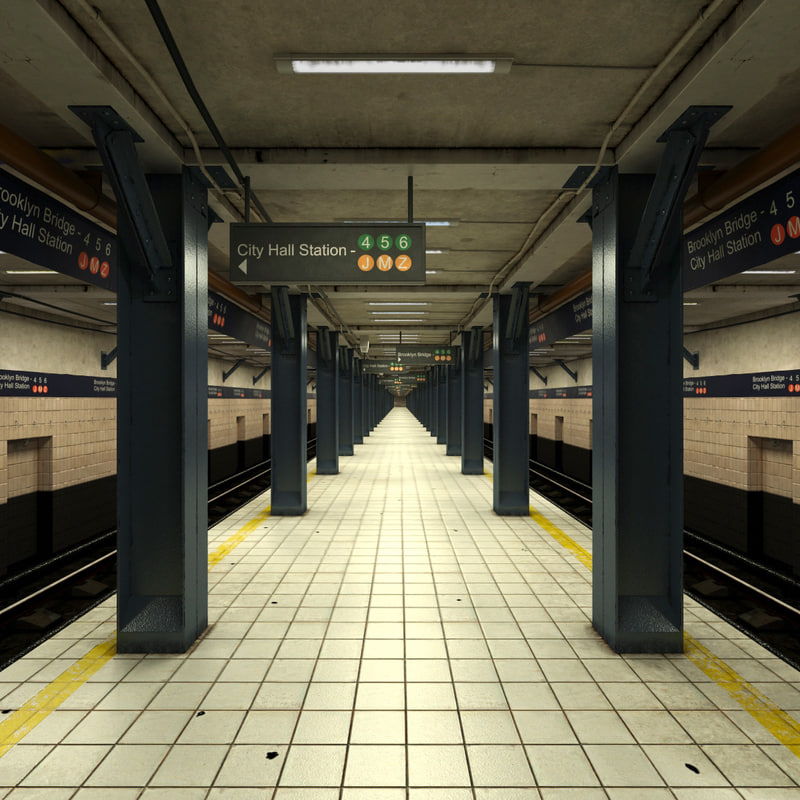 subway station 2 scene 3d max