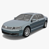 3d volkswagen phaeton 2011 car model