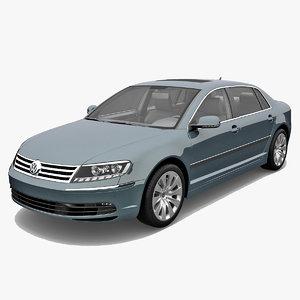 3d volkswagen phaeton 2011 car model