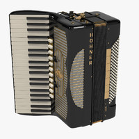 3d model hohner accordion