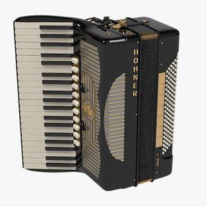 3d model hohner accordion