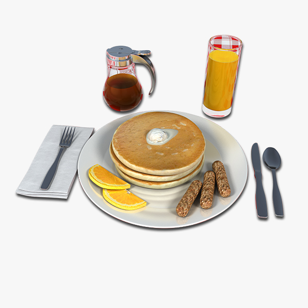 3d pancake breakfast