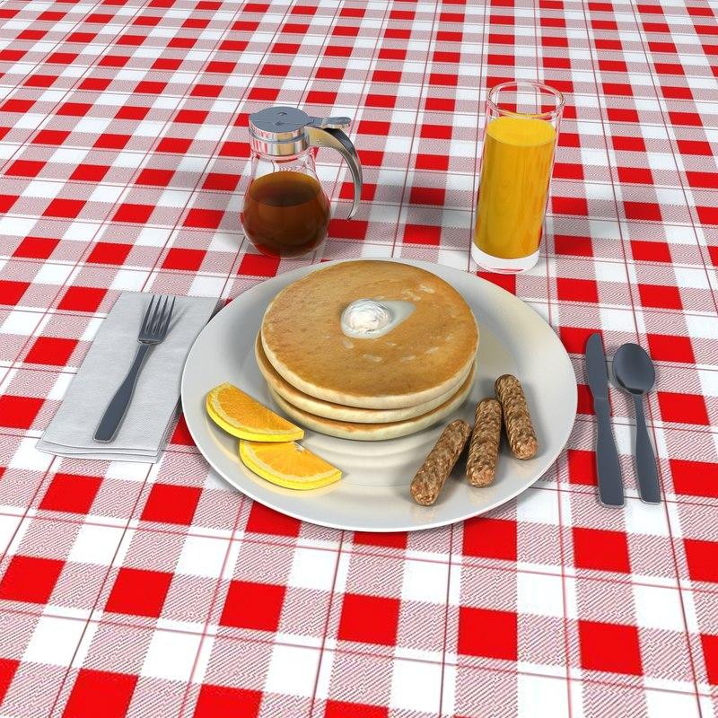 3d pancake breakfast