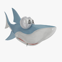 cartoon shark 3D models