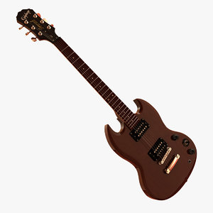 3ds max epiphone sg guitar