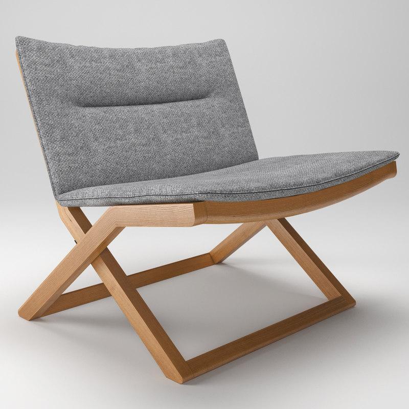 3d model cruiser easy chair stool
