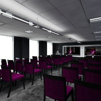 office training room interior 3d max