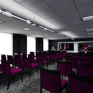 office training room interior 3d max