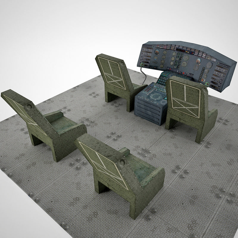 aircraft cockpit 3d model