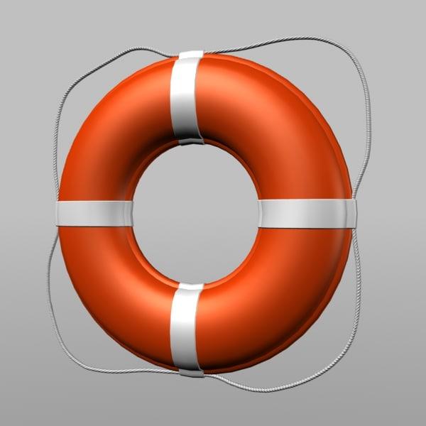 3d ring buoy model