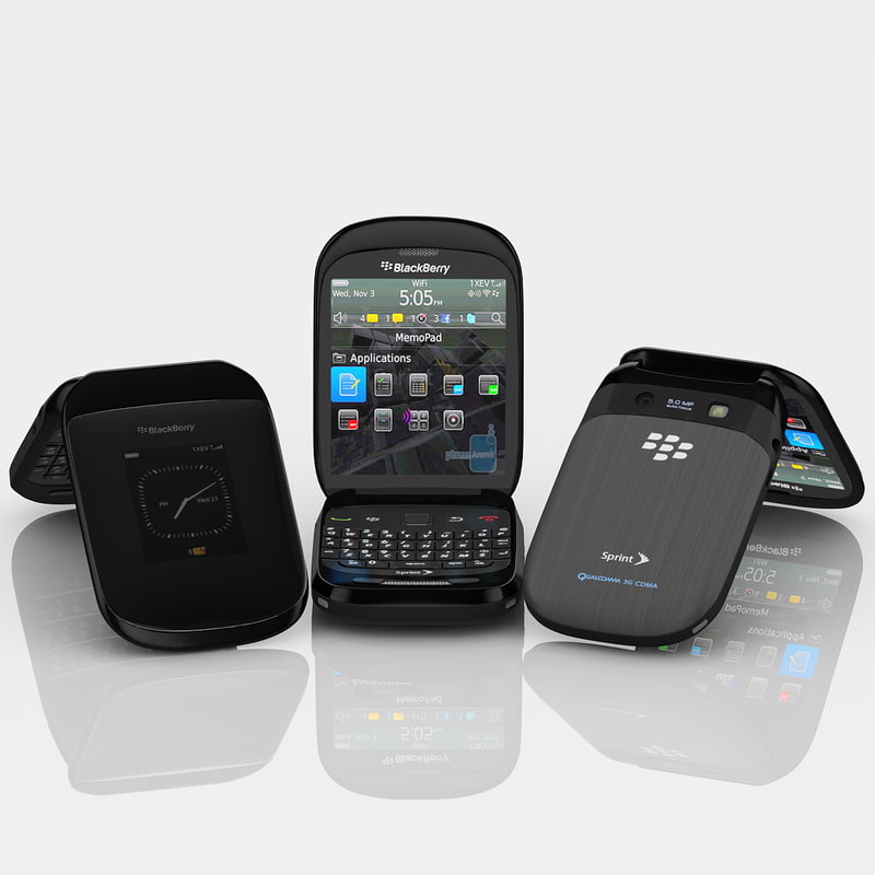 3ds max blackberry style 9670 cellphone
