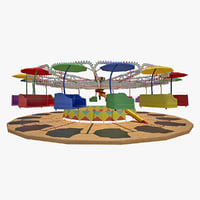 3d carousel modeled model
