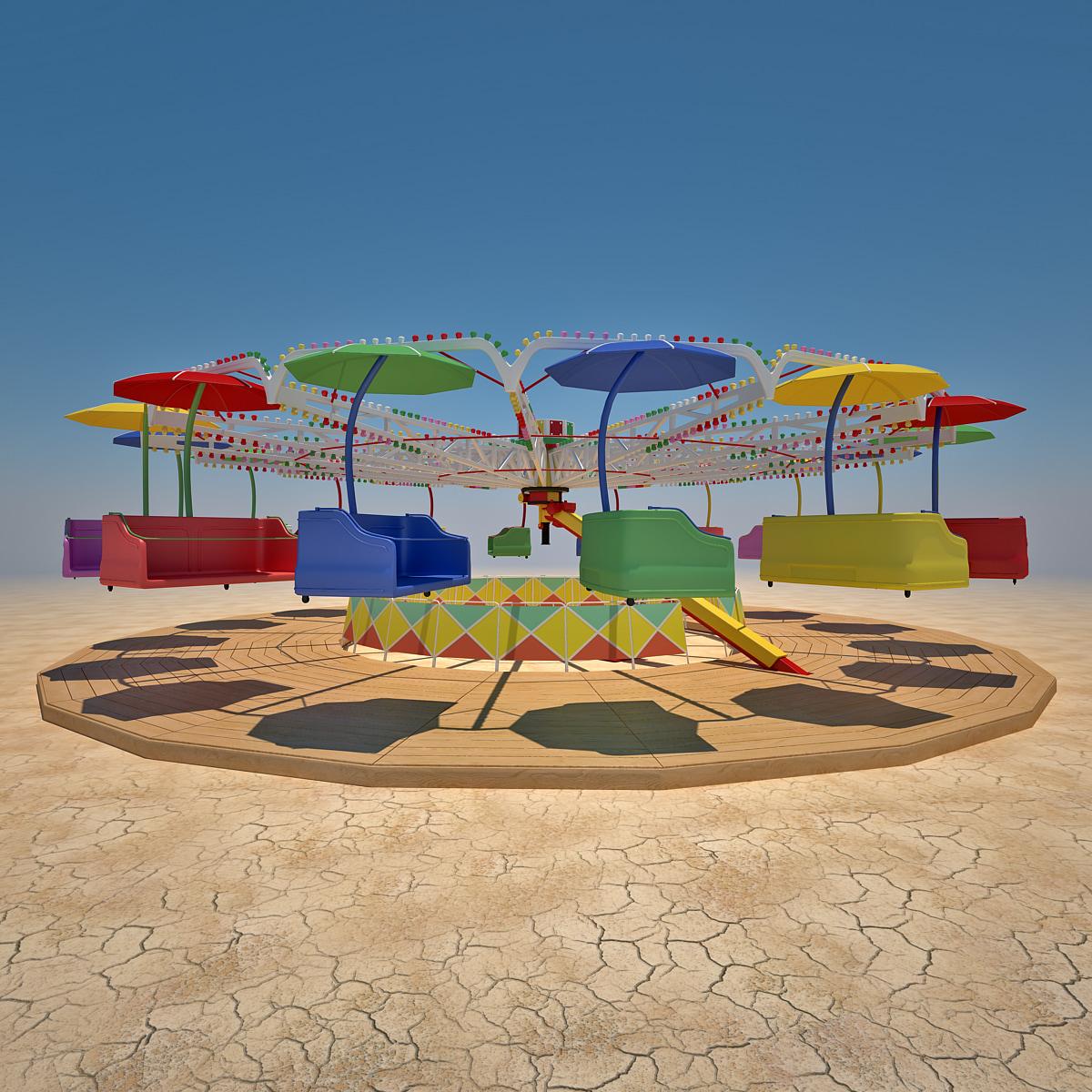 3d carousel modeled model
