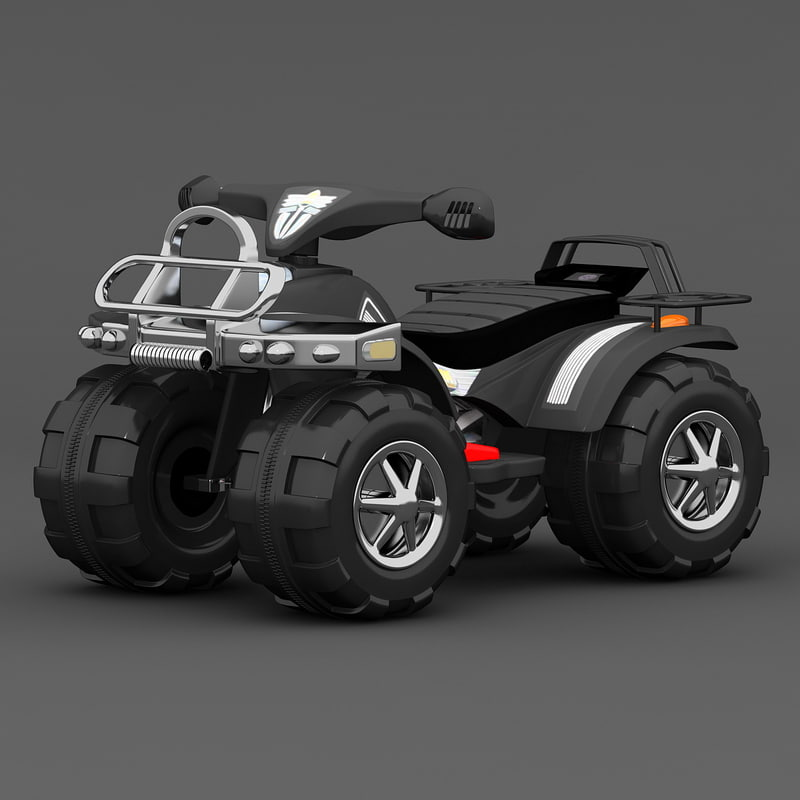 electric toy wheeler c4d