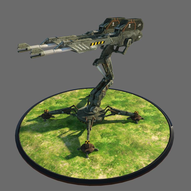 3d gun turret