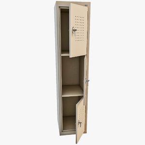 locker modelled max