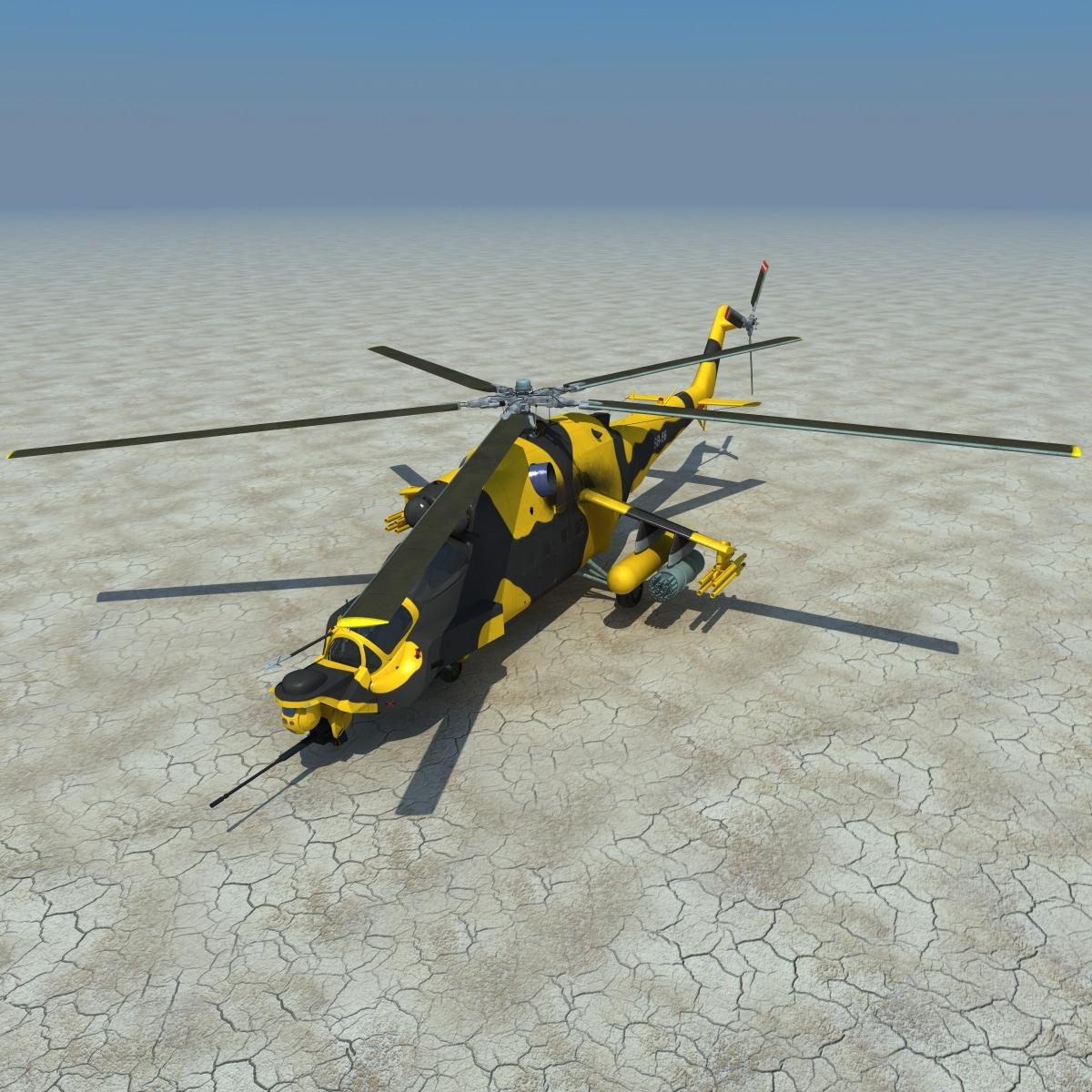 realistic mi 24 super 3d model
