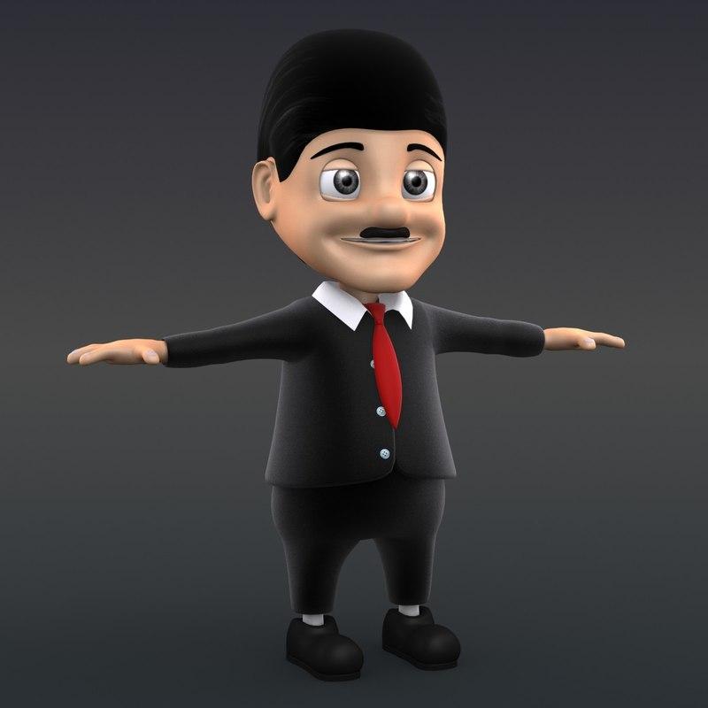 3ds max businessman man