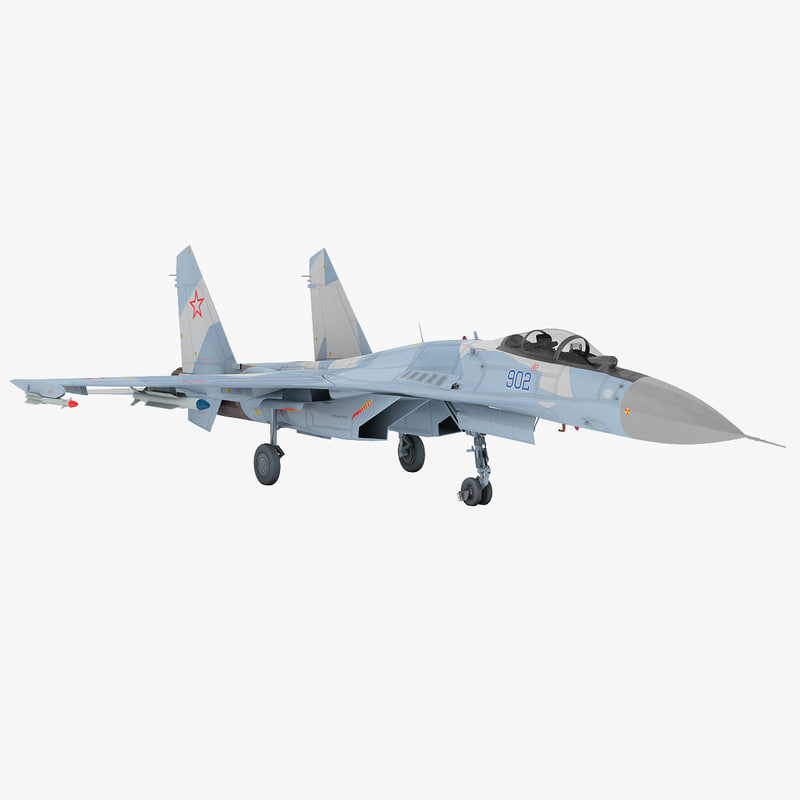 3d russian sukhoi su-35 fighter model