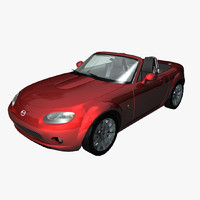 3d model sports car mazda