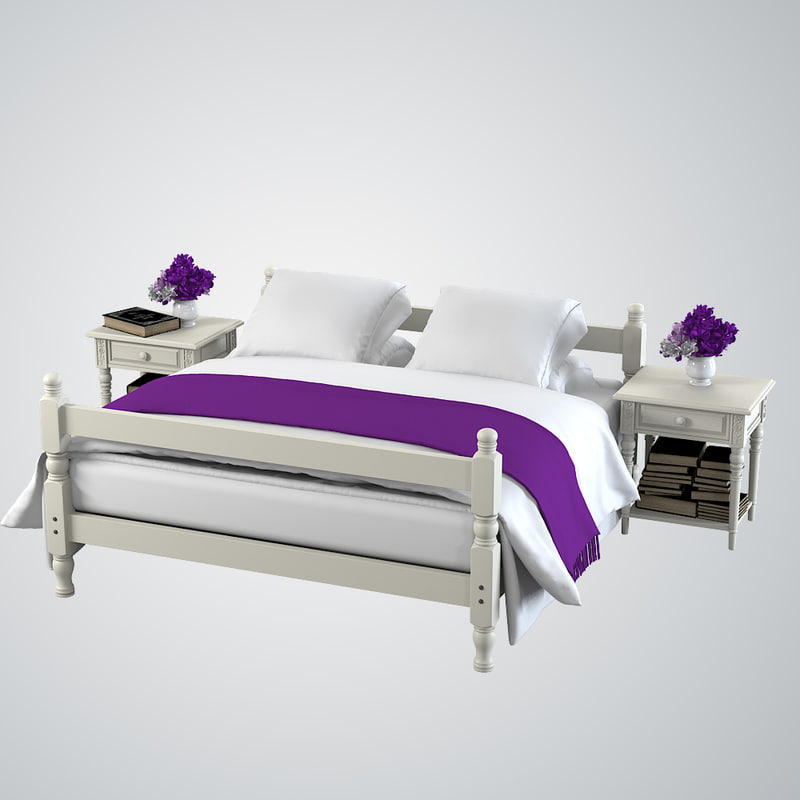 provencial style bed 3d max