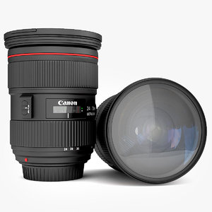 canon lens ef 24-70mm 3d model