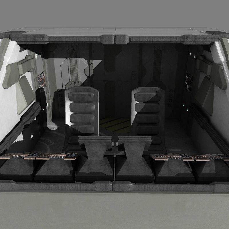 starship cockpit 3d model