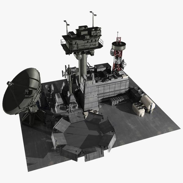 scifi facility 3d model