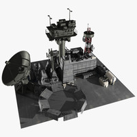 scifi facility 3d model