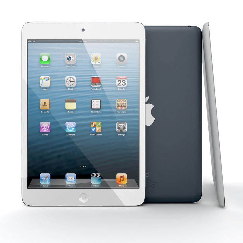 3d model new apple ipad mini
