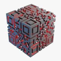 qr code 3d model