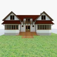 house garden wood 3d max
