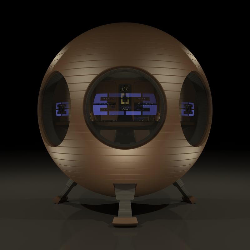 3dsmax shuttle pod