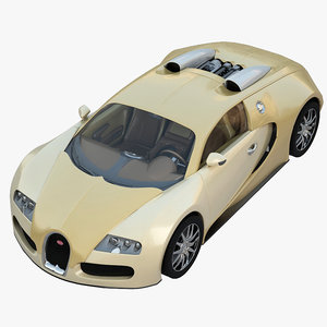3d model bugatti veyron sport luxury